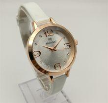 Factory Direct Quartz Watch Woman's Leather Rose Rose Diamond Watches China Guangzhou fashion brand MUONIC watch