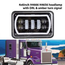 4x6inch 30W led headlight truck trailer sealed headlamp H4666 H4656 headlamp replacement for Chevrolet Ford Pontiac Mitsubishi