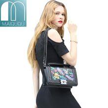 MAIDUDU Luxury Embossing Women Handbag Phoenix and Flowers Womens Messenger Bags 2018 New Fashion Brand Chain Lady Shoulder Bags