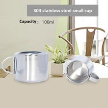 High quality 304 stainless steel coffee or wine beautiful small cup food grade with handle