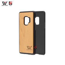 Pure simple plain cherry wood cell phone case for Samsung Galaxy s9 s9plus plus series mobile back cover phones accessories