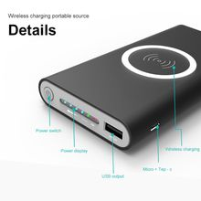 Qi 8000mAh Power Bank Wireless Mobile cell Phone Charger for iPhone 8 X for Samsung S8 universal Wireless External Battery Pack powerbank