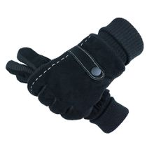 Winter Men's Leather Glovers Soft Feel Fully Lined Winter Warm Walking Mittens Driving Luvas Men Touching Screen Gloves