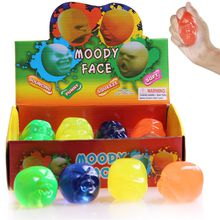 Moody Face Squeeze toys Thinking Putty Intelligent Creative Hand Gum Ramen soil Elasticity Environmental protection Slime Mud Novelty Gag