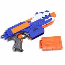 Blue Nerf Gun Soft Bullets Toy Gun Suit for Nerf Toy Electric Gun Arme Shooting Guns Pistol Sniper Rifle 20 Bullet 1 Target Christmas Gifts