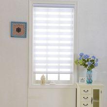 Zebra Blinds Double Layer Roller Blinds Translucent Curtain Custom Made Shade for Living Room Bedroom