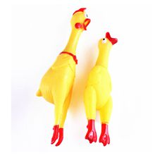 Pet Dog Cat Squeeze Chicken Shrilling Screaming Rubber Funny Toy Squawking Rooster Pet Dog Chew Bite Toy Squeaker