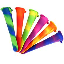 Silicone Ice Pop Set Popsicle Maker Molds, Free Freezing & Easy Cleanup - BPA Free, FDA Approved (Lid attached)