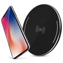 Aluminum alloy wireless charger, QI wireless charging standard protocol,Suitable for iPhone X/8/8Plus, Galaxy S8/S8 Plus/Note8