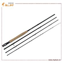 ILURE Carbon Fly Fishing Rod Four Section 2.43m 8'Carbon Fishing Rods EVA Handle Provides Fly Fishing Packages