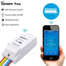 Sonoff Pow Smart Wifi Switch Controller With Real Time Power Consumption Measurement 16A/3500w Smart Home Device Via Android IOS