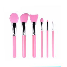 makeup cosmetic brush set for face New style 6 pcs silicone head brush facial use mask brush