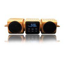 high quality loud sound motorcycle bluetooth handfree waterproof speaker built in double bass diaphragms