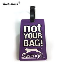 Personalized Custom Soft PVC Travel Luggage Tag(RL-004)