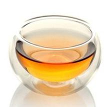 high temperature resistant glass double-layer cup Kung Fu Cup