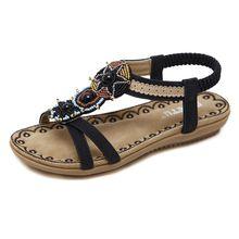 new national women's Bohemia folk style Sandals Size beaded shoes wholesale trade