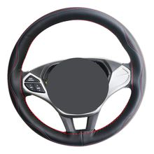 Handsew soft 38cm car steering wheel cover made of best new microfiber leather widely used on Volkswagen/Buick/Toyota/Honda/Hyundai/BMW ETC