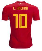 Belgium red home jersey 2018 World Cup Hazard De Bruyne Lukaku Football Shirt