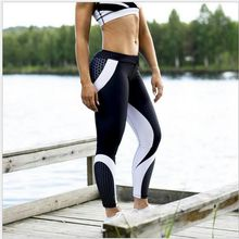 Honeycomb Printed Yoga Pants Women Push Up Professional Running Fitness Gym Sport Leggings Tight Trouser Pencil Leggins