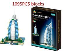 YZ Weili Diamond Granules Micro Building Blocks Series 052 Dubai Sailing Hotel Children's Puzzle Assembled Toys