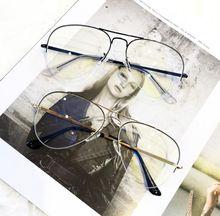 High quality R 6589 half frame frog mirror myopia glasses frame men tide street shooting flat mirror myopia glasses frame