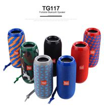 Portable Speaker Wireless Bluetooth Speakers TG117 Soundbar Outdoor Sports Waterproof Support TF Card FM Radio Aux Input