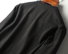 2017 new autumn embroidery process luxury brand sweatshirt for men ~ mens crewneck sweatshirt designer black coat