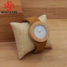 SIHAIXIN man Quartz Watches Creative High Quality Natural Leather Strap Ladies Elegant Casual Watch With Gift Box Wood