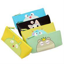 Wholesale custom printed colored school pencil case cute cartoon pen bag