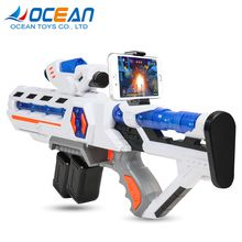 3D virtual fighting play smart bluetooth control plastic ar game gun for mobile phone