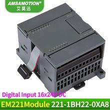 Free Shipping Amsamotion Digital Module 6ES7 221-1BH22-0XA8 Suitable Simens S7-200 PLC Digital EM221 16Input 24V