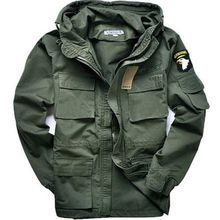 2 Style mens jacket Men 100% cotton can accept waist Military Style jackets US 101 army air force bomber Pilot Coats