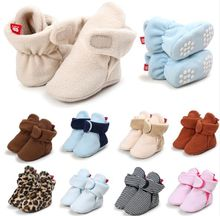 Baby Booties Crib shoes Warm Baby First Walkers Soft Sole Baby Prewalkers 0-18Months
