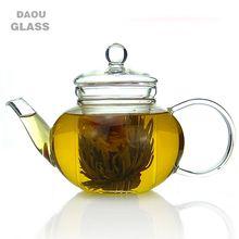 HOT SALES hand made heat resistant borosilicate Clear Pyrex glass teapot ,glass teaware, Coffee Tea Pot Juice Kettle,300ml 600ml