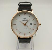 Men's Leather Quartz Watch China Guangzhou Fashion Brand MUONIC Watch Slim Single Calendar Copy Luxury Watch