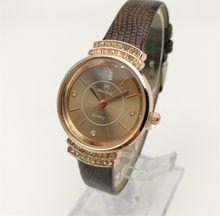 Quartz Watch Women's Leather Strap Decorated With Diamond Fashion Watch China Guangzhou Brand Muonic Luxury Cheap Watches