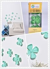 Flower 3D Wall Stickers Green color(12pcs/box)