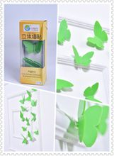 Butterfly 3D Wall Stickers Green color(12pcs/box)