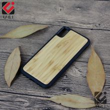 Bamboo Case For iPhone X Real Wood Full TPU Protector Mobile Phone Cover Custom U&I blank Wooden for Apple X Coque Factory Fundas