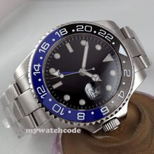 43mm black dial Ceramic Bezel sapphire glass automatic mens watch 298