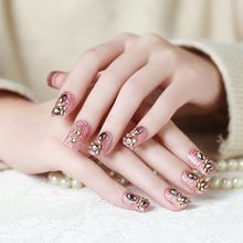 3D Stereoscopic Beauty Bridal Nail Products Fingernail Tablets 24piece Shining Luxurious Full Nail Tips Fake Nails Art Salon Film manicure