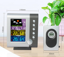 JIMEI H105G-COLOR Wireless Colorful LCD Display Indoor Outdoor thermometer hygrometer Weather Station Clock