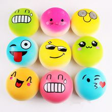 Bread Cream Emoji Squeeze Toys Happy Face Angry Hand Stress Balls 4inches 10CM Anti-Stress Mesh Face Reliever Decompression Novelty Squishy