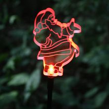 Solar led lighting Garden Decorative outdoor use Garden Stake Light led lighting garden stake with color changing clear acrylic snoman