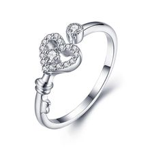 Noble High Quality Exquisite 925 Sterling Silver Jewelry Ring fancy heart love silver ring For Women NBR006