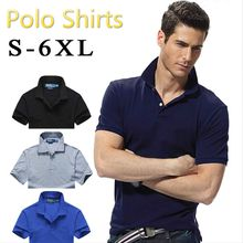 Brand Clothing New Men Polo Shirt Men Business Casual Solid Male Polo Shirt Short Sleeve Breathable Polo Shirt Black White Plus Size 6XL