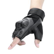 2018 Tactical Fingerless Gloves Military Army Airsoft Paintball Leather Protection Rubber Knuckle Half Finger Gloves for Men