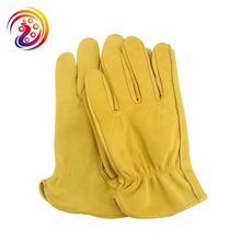 Work Goves Cowhide Leather Drivers Gardening Protective General Use Construction Working Glove HY008 By Olson Deepak