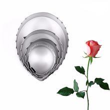 4pcs rose leaf stainless steel cookie cutter cake decoration fondant cutting die impression rose baking mould