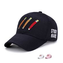 Korean version of a simple baseball cap spring cotton embroidered pencil hat for both men and women